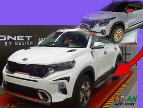 Kia Sonet Gets Accessories Inspired By Seltos X-Line Concept