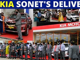 Watch 15 Kia Sonet SUVs Being Delivered Simultaneously - VIDEO