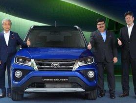 Toyota Urban Cruiser (Repurposed Maruti Vitara Brezza) Enters Indian Market