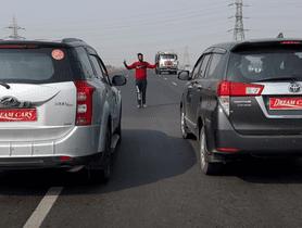 Toyota Innova VS Mahindra XUV500 In A Drag Race