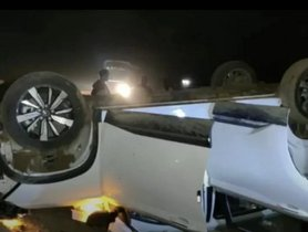 MG Hector (NCAP - N/A) Turns Turtle At 120 Kmph, All Occupants Safe