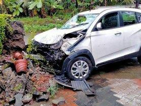 Mahindra KUV100 (NCAP - N/A) Hits a Wall at High Speed, All Occupants Safe