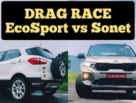 Kia Sonet vs Ford EcoSport Drag Race of Diesel Variants