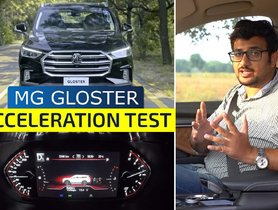 MG Gloster Acceleration Test, How Quick is it To 100 kmph?