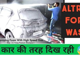 Tata Altroz Foam Washing Video - Is Snow Foam Wash good for your Car?