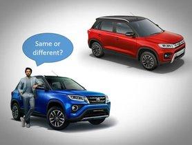 Maruti Vitara Brezza Vs Toyota Urban Cruiser: 3 Main Differences