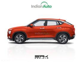 2020 Hyundai Creta Coupe Rendered, Looks Fast & Gorgeous