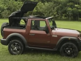 2020 Mahindra Thar Convertible Roof - How To Open Roof?