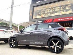 Hyundai Elite i20 Looks Dapper With 18-inch Dual-tone Alloy Wheels