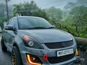 This Modified Maruti Swift With Nardo Grey Paint Job Is Fast & Gorgeous