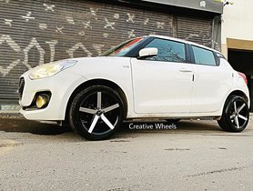 Maruti Swift Stance'd With Flashy 18-inch Alloy Wheels