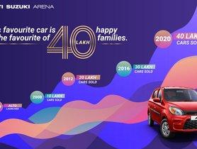 Maruti Alto Celebrates 20 Years in India, 4 Million Units Sold