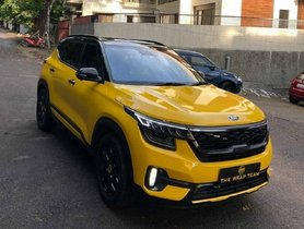 This Yellow Wrapped Kia Seltos is an Attention Magnet