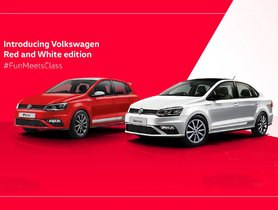 Red & White Edition of VW Polo and Vento Launched in India