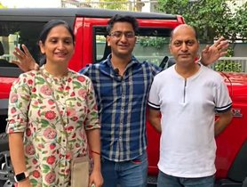 New Mahindra Thar As A FAMILY Car? Youtuber Gives Parents A Ride Experience