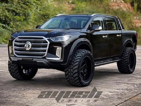 MG Gloster Looks Badass in Pickup Truck Livery, Check Here