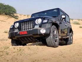 Watch 2020 Mahindra Thar Diesel Automatic Playing Around In Dunes [Video]