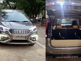 First Maruti Ertiga With Electric Tailgate