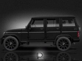 The Mahindra Bolero 'Dark Edition' is a True-blue Mafia Car, G-Wagon Who?