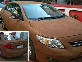 Owner of Toyota Corolla Altis Covers his Car in Cow-dung - Here's Why