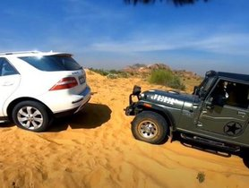 Mercedes-Benz SUV Gets Stuck While Off-roading, Rescued By Mahindra Thar