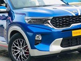 Modified Kia Sonet HTX+ Gets Silver Cladding & Sportier Rims