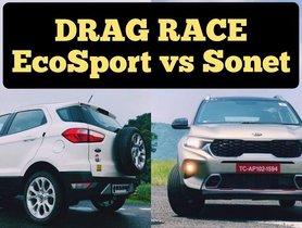 Kia Sonet vs Ford Ecosport - Drag Race of Diesel Variants