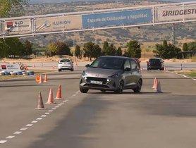 Hyundai Grand i10 Nios Undertakes the DIFFICULT Moose Test - Video