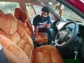 Modified Mahindra XUV500 Looks Comfy with Custom Sofa Seats
