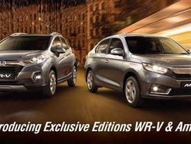 Honda Amaze, WR-V Exclusive Editions Launched In India