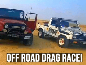 Mahindra Thar VS Maruti Gypsy in a Drag Race
