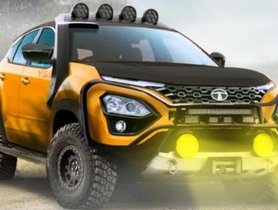 Tata Harrier Looks Solid In An Off-Road Avatar