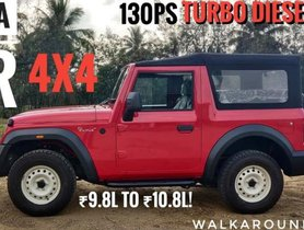 Entry-Level Diesel Mahindra Thar AX Explained On Video