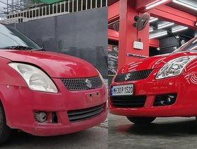 This Almost-Ruined 2008 Maruti Swift Has Been Restored To Look Brand New