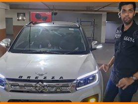 Petrol Maruti Vitara Brezza Modified To Resemble A Range Rover
