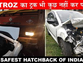 Tata Altroz (5-star G-NCAP) Shows Off Incredible Build Quality In 2 Different Accidents - VIDEO
