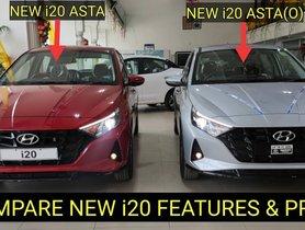 Hyundai i20 Asta and Asta (O) Compared On Tape - VIDEO