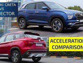 MG Hector VS Hyundai Creta 0-100 kmph Acceleration Test - VIDEO