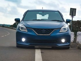 Stance'd Maruti Baleno Has an Angry Look