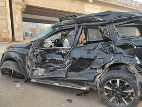 Mahindra XUV500 (4-Star A-NCAP) TOTALLED In Massive Crash, Keeps Driver Safe