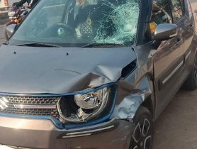 Maruti Ignis (3-Star NCAP) Hit By Truck, Keeps Occupants SAFE