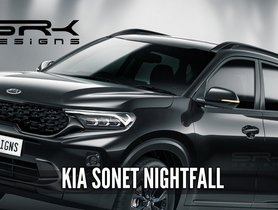 Kia Sonet Nightfall Edition Rendered, Looks CHIC