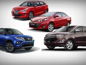 Toyota December 2020 Car Offers & Discounts - Urban Cruiser to Innova Crysta
