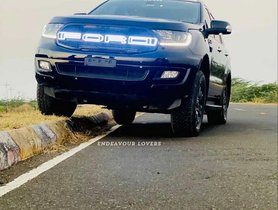 Ford Endeavour With Illuminated Grille Looks BADASS