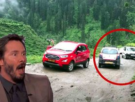 Ford EcoSport Struggles On Muddy Stretch While Maruti Alto 800 Crosses Easily - VIDEO