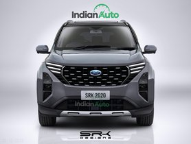 Upcoming Ford SUV for India Rendered- Based On Mahindra XUV500