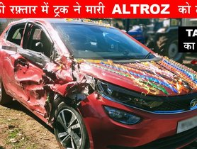 Tata Altroz Accident With Dumper At High Speed Proves Great Build Quality - VIDEO