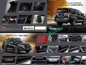 Toyota Innova Crysta Facelift Accessories Detailed