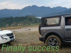 Watch New Mahindra Thar Rescue Mahindra XUV500 - VIDEO