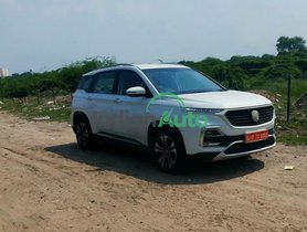 2021 MG Hector Facelift Spied Sans Camouflage Ahead Of Imminent Launch